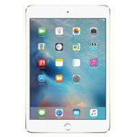 Apple iPad Mini 4 128GB Wi-Fi & Cellular 3G/4G Tablet - Gold