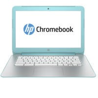 "Refurbished HP Chromebook 14-x020na 14"" NVIDIA Tegra K1 2GB 16GB Chrome OS in  White / Turquoise Laptop"