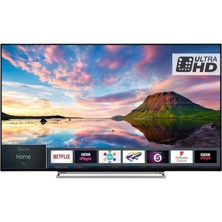 "Toshiba 43U5863DB 43"" 4K Ultra HD Dolby Vision HDR LED Smart TV with Freeview Play and Freeview HD"