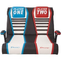 X Rocker Dual Rivals 2.1 Double Wide Gaming Chair - Black / White