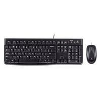 Logitech MK120 Wired Keyboard and Mouse - Black