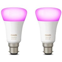 Philips Hue White & Colour Ambiance with B22 Bayonet Ending - 2 Pack Alexa & Google Assistant Compatible