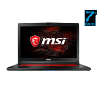 MSI GL72 7REX Core i7-7700HQ 8GB 1TB + 256GB SSD 17.3 Inch GeForce GTX 1050 Ti 2GB Windows 10 Gaming Laptop Free Bag