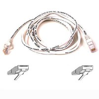 2m Cat5 / RJ45 Snagless 2m white patch cable