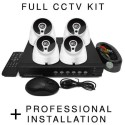 BUN/TL-MD4H4221TB/70000 electriQ HD 720p 4 Dome Camera CCTV System with Professional Installation