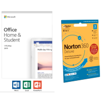 Microsoft Office Home & Student 2019 with Norton 360 Security - 3 Devices Bundle
