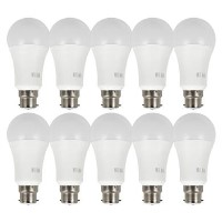 electriQ Smart dimmable colour Wifi Bulb with B22 bayonet ending - Alexa & Google Home compatible - 10 Pack