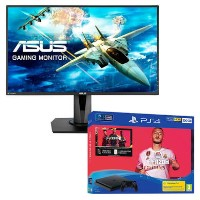 "Asus VG27VQ 27"" Full HD FreeSync Gaming Monitor with Sony PS4 500GB FIFA 20 + DualShock Controller Bundle"