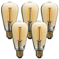 electriQ Smart dimmable Wifi filament bulb with E27 screw fitting - 5 Pack