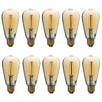 electriQ Smart dimmable Wifi filament bulb with E27 screw fitting - 10 Pack