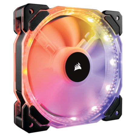 Corsair HD120 RGB LED High Performance 120mm PWM Fan - Three Pack with Controller