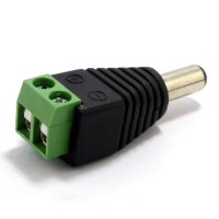 Single 2.1mm DC Power Plug Male