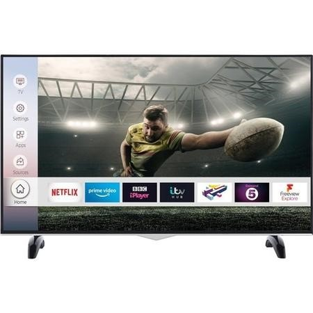 "electriQ 55"" 4K Ultra HD Smart HDR LED TV with Dolby Vision and Freeview Play"