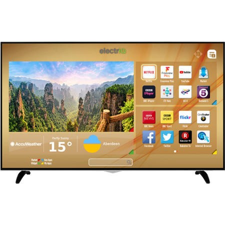 "E65UHDHDRSQ electriQ 65"" 4K Ultra HD Dolby Vision HDR LED Smart TV with Freeview HD and Freeview Play"