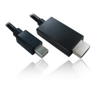 2m Mini Display Port M - HDMI M Cable in Black
