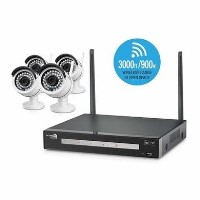 HomeGuard CCTV System - 8 Channel Wireless NVR with 4 x 960p HD Day/Night CCTV Cameras & 1TB HDD