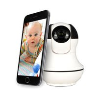 electriQ HD 1080p Wifi Baby Monitoring Pan Tilit Zoom Camera with 2-way Audio & dedicated App