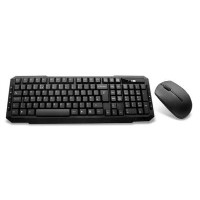 Wireless Keyboard and Mouse Combo Set - Black