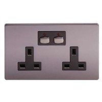Energenie MiHome Style -  Double Socket - nickel