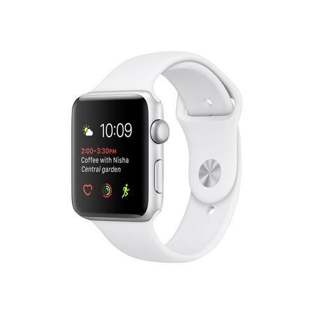 Apple Watch Series 2 42 mm Silver Aluminium case with White Sport Band