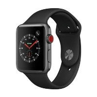 Grade A Apple Watch Sport Series 3 GPS + Cellular 42mm Space Grey Aluminium Case with Black Sport