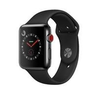 Apple Watch Series 3 GPS + Cell 42mm Space Black Stainless Steel Case with Black Sport Band