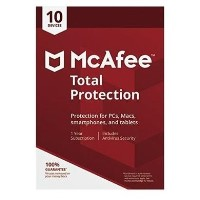 McAfee Total Protection Internet Security - 10 Devices - 12 Months Subscription