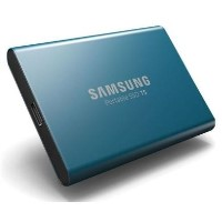 Box Opened Samsung Blue T5 500GB Type C Portable SSD