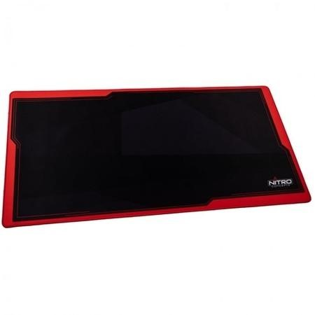 Nitro Concepts Desk Mat 1200 x 600mm - Black/Red
