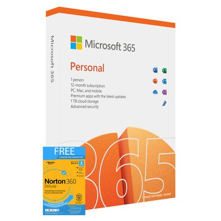 Microsoft Office 365 Personal - 1 User - 1 Year Subscription - Electronic Download