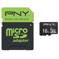 PNY 16GB MicroSDHC Card with Adapter
