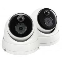 Swann Thermal Sensing 3MP Super HD PIR Dome Cameras with 30m Night Vision - 2 pack