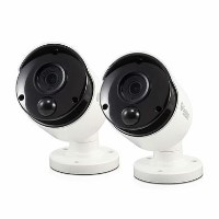 Swann Super HD 5MP Thermal Sensing White Analogue Bullet Camera with 30m Night Vision - 2 Pack