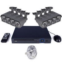 electriQ CCTV System - 8 Channel HD 1080p NVR with 8 x 1080p Bullet Cameras & 2TB HDD