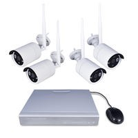 electriQ Wireless CCTV System - 4 Channel 1080p with 4 x Bullet Cameras - Hard Drive Required