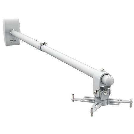 Vision TM-ST2 Short Throw Projector Wall Mount with a telescopic boom. Length range 850-1520mm