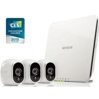 Netgear Arlo Smart Home System 3 x HD 720p Cameras Wire-Free Indoor/Outdoor with Night Vision