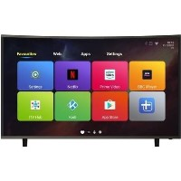 "electriQ 49"" Curved 4K Ultra HD LED Android Smart TV with Freeview HD"
