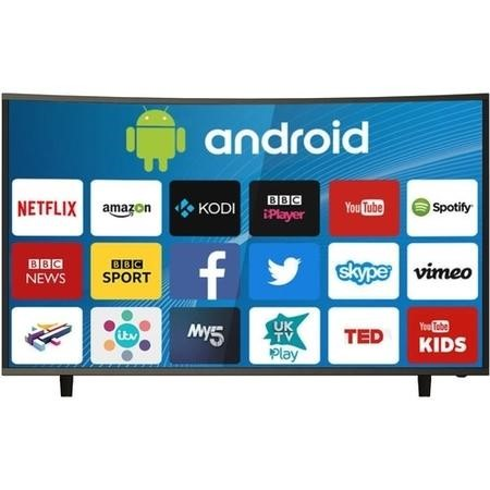 "electriQ 49"" Curved 4K Ultra HD HDR LED Android Smart TV with Freeview HD"