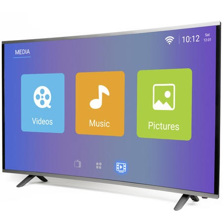 "electriQ 65"" Curved 4K Ultra HD LED Android Smart TV with Freeview HD"