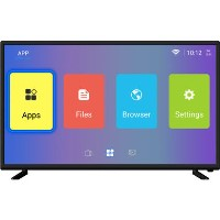 electriQ 43 Inch  4K Ultra HD HDR LED Android Smart TV with Freeview HD