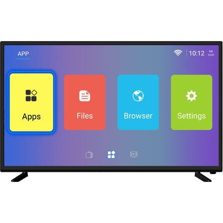 "eiq-43UHDT2SMH electriQ 43"" 4K Ultra HD HDR LED Android Smart TV with Freeview HD"