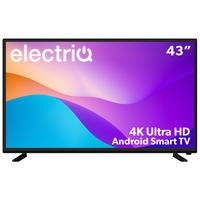 "electriQ 43"" 4K Ultra HD LED Smart TV with Android and HDR"