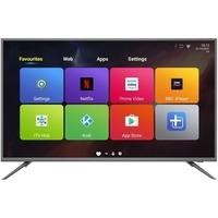 "electriQ 50"" 4K Ultra HD LED Android Smart TV with Freeview HD - Silver"