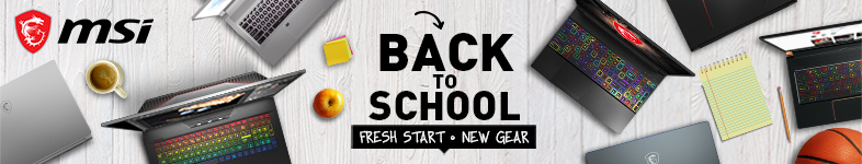MSI back to school Laptop promotion.