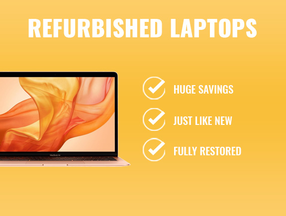 refurbished laptops for students category banner.